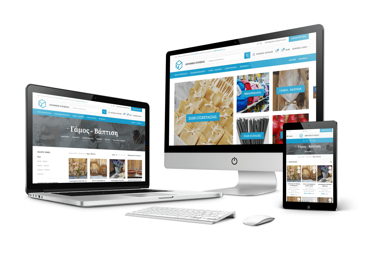 website responsive layouts on desktop, laptop, and mobile devices